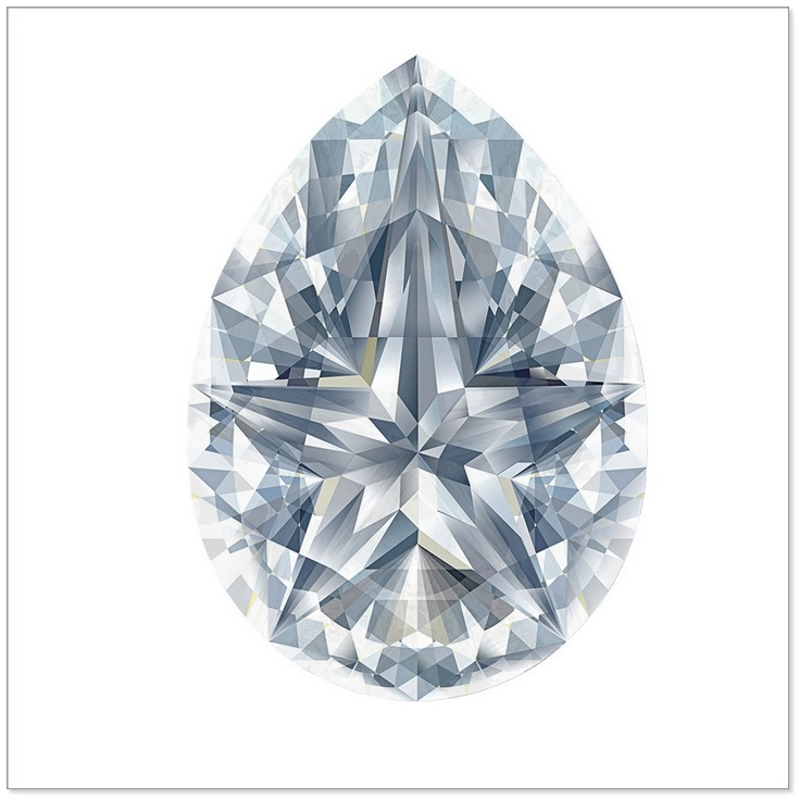 The Pear Shaped Stardiamond™ Cut